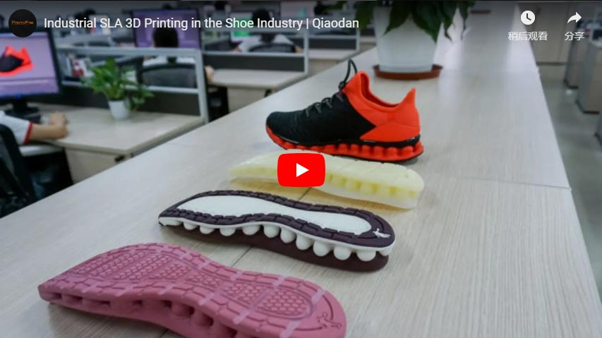 Industrial SLA 3D Printing in the Shoe Industry