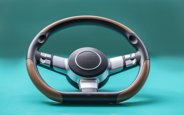 A steering wheel printed by the ProtoFab SLA600