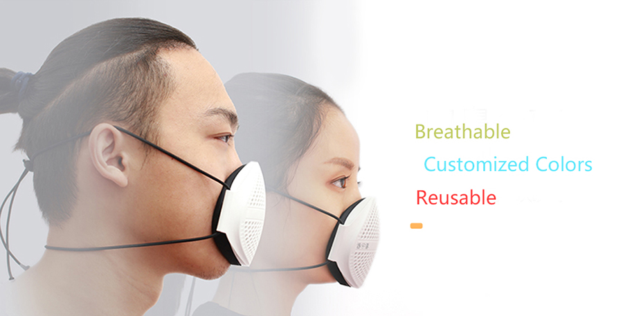 Anti-haze inject molded masks