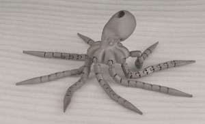 Case Analysis of 3D Printing Metal Octopus Model